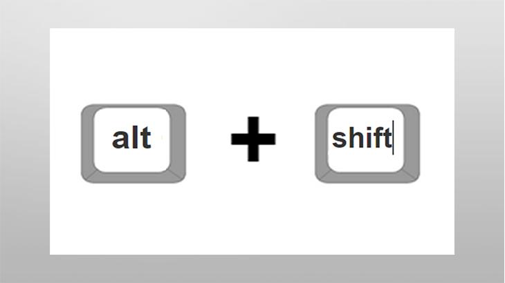 Сочетание клавиш для смены языка