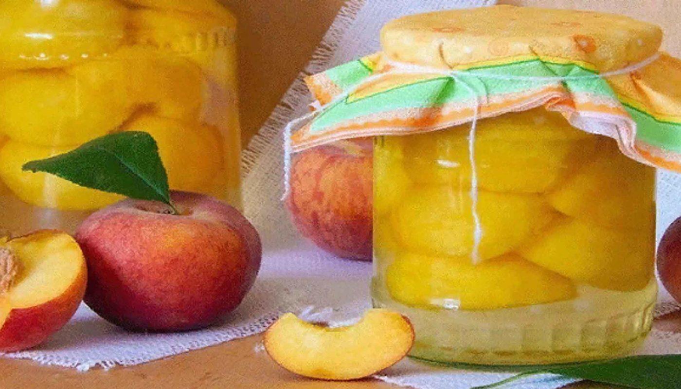 Сочные персики в сиропе на зиму, рецепт без стерилизации пошагово с фото